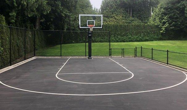 outdoor sports court marking