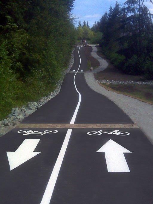 bicycle path striping